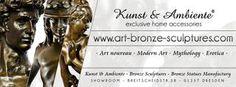 Company Overview - KUNST & AMBIENTE Company Profile, Bronze Sculpture, Art Decor, Sculptures, Shop, Kunst, Company Profile Design, Store, Sculpture