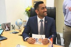 Mahendra Singh Dhoni officially turns Gulf Oil India CEO :http://gktomorrow.com/2017/04/05/dhoni-turns-gulf-oil-india-ceo/