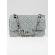 Chanel Grey 2.55 Reissue Quilted Matte Caviar Leather Classic Reissue 225 Flap Bag