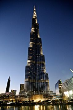 The tallest building in the world, the Burj Khalifa