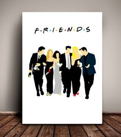 Friends // The One with Monica and Chandler's Wedding // Minimalist TV Poster // Unique Art Print Tony Soprano, Cute Friends, Friends Tv Show, Minimalist Poster, Minimalist Art, Dream Catcher Drawing, Small Canvas Paintings, Oil Paintings, Subtle Background