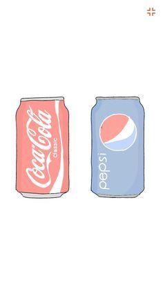 Today I draw Coca Cola and pepsi