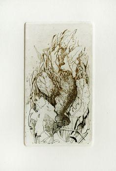"""Marta Galisz """"W trawie"""" akwaforta / etching"""
