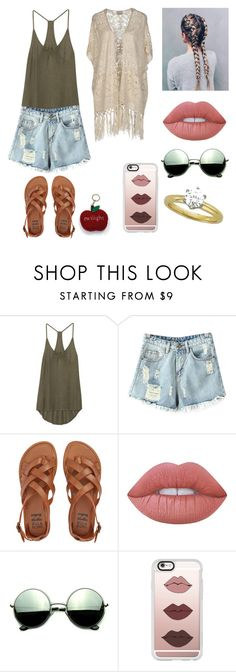 """""""Sem título #752"""" by mahceinha ❤ liked on Polyvore featuring Enza Costa, Chicnova Fashion, Billabong, Lime Crime, Revo, Casetify and Vero Moda"""