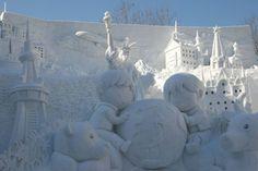 Sapporo Snow Festival Preparation