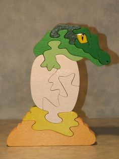 Animal Puzzle, Wooden Puzzles, Scroll Saw, Wood Toys, Wood Projects, Dinosaur Stuffed Animal, Articles, Woodworking, Country