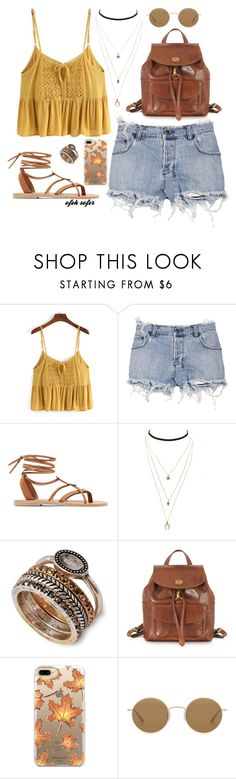 """""""YELLOW #5"""" by ofeksofer51 ❤ liked on Polyvore featuring Ksubi, Valia Gabriel, Charlotte Russe, Lucky Brand, The Bridge, Casetify and Oliver Peoples"""