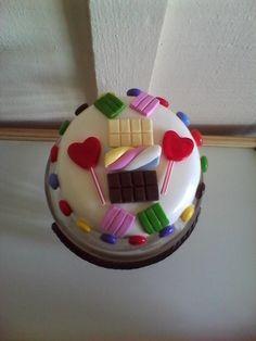 Pote de doces em biscuit