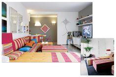 Portal Decoração - Sala ampla e colorida