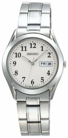 Seiko Men's SGG799 Silver-Tone Watch Seiko. $118.00. Reliable Japanese-quartz movement. Stainless steel case and bracelet with brushed and polished links. Day and date window at the three o'clock position. Water resistant up to 99 feet (30 M)