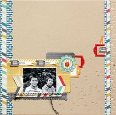 Brother Buddies - by Lilith Eeckels using the Chap collection from American Crafts. #scrapbooking #layout