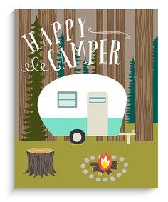 'Happy Camper' Wall Art