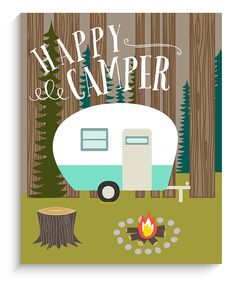 'Happy Camper' Wall