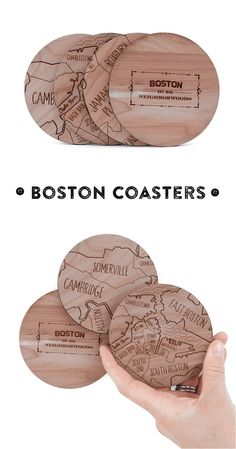 Showcase your favorite city while entertaining guests over cocktails. Each set consists of 4 wooden coasters and makes a great gift for friends, family, bosses, and neighbors!