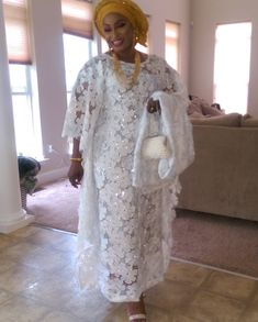 Agbada-Erelu African Maxi Dresses, African Dresses For Women, African Women, African Lace, African Wear, African Attire, Nigerian Dress, African Print Dress Designs, Lace Dress Styles