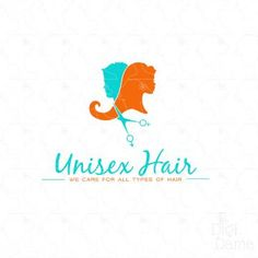 Unisex Hair Logo Design! This exclusive, OOAK premade logo can be personalised with your business name for only $99 from The Digi Dame!