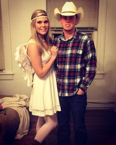 Cowboys and Angels Halloween cute country couple costume for adults