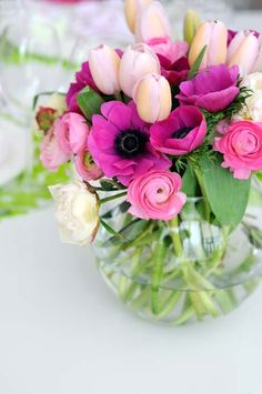 Ranunculus, tulips and poppies
