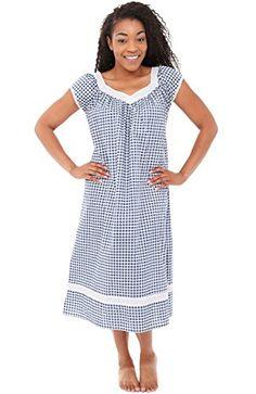 fb7620cb86 Alexander Del Rossa Womens Adele Cotton Nightgown