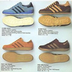 496dd2f236143 Wonderful shot from a 1979 adidas brochure showing the original Jeans