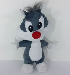 Baby Looney Tunes Sylvester Cat Plush Toy Doll Stuffed Animal Six Flags Gray Plush Animals, Stuffed Animals, Baby Looney Tunes, Disney Plush, Six Flags, Angry Birds, Hello Kitty, Toy, Dolls