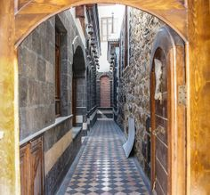 Private alleyway inside Old Damascus Syria
