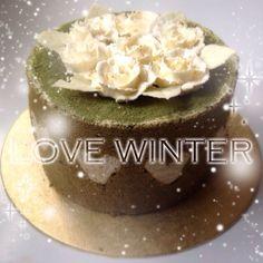Winter Matcha Green tea wedding cake Matcha Green Tea, Wedding Cakes, Menu, Pudding, Winter, Sweet, Desserts, Food, Menu Board Design