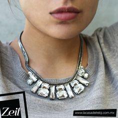 Complementa tu Look a la perfección con #Zeit siempre a la vanguardia en moda #silver #necklace #trends #jewerly #style #fashion