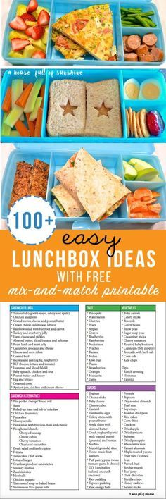 [orginial_title] – Karen {A house full of sunshine} Easy Lunchbox Ideas (with free mix-and-match printable!) Easy Lunchbox ideas with free mix and match printable Lunch Snacks, Lunch Recipes, Baby Food Recipes, Healthy Snacks, Paleo Recipes, Sandwich Recipes, Lunch Meals, Detox Recipes, Family Recipes