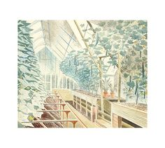 Cucumber House (Giclee Limited Edition of 850) by Eric Ravilious