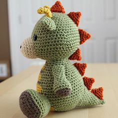 Spike the Dragon amigurumi crochet pattern by Little Muggles