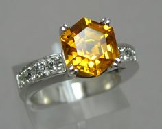 Citrine Ring by NellMarie https://www.etsy.com/listing/159061007/sterling-silver-hexagon-citrine-ring