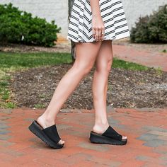 bea0296c3949 Gravity in Black Wedge Sandals By OTBT Slide on in to the season in these  new