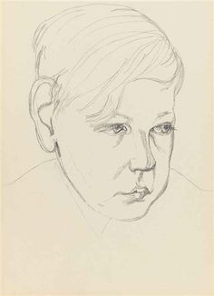 View Head of a Boy - By Lucian Freud; graphite on paper; Access more artwork lots and estimated & realized auction prices on MutualArt. Lucian Freud, Berlin, Travel Sketchbook, Great Works Of Art, Artists And Models, Portrait Inspiration, Life Drawing, Famous Artists, Portrait Art