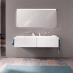 Keramag Xeno² Waschtischunterschrank B: 139,5 H: 35 T: 47,5 cm, mit 2 Schubladen Front und Korpus weiß matt