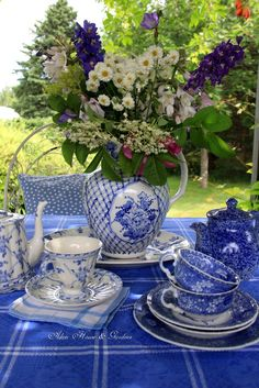 Hello everyone,     It is a hot sunny day here so it   lovely to have afternoon tea in   the terrace where it is shady   and cool...