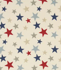 Funky Stars for a royal baby boy http://www.justfabrics.co.uk/curtain-fabric-upholstery/blue-funky-stars-fabric/