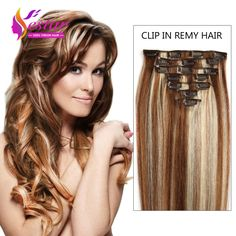 Aliexpress Buy Clip In Human Hair Extensions 7A Brazilian