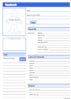 Facebook Profile. Free PDF template.