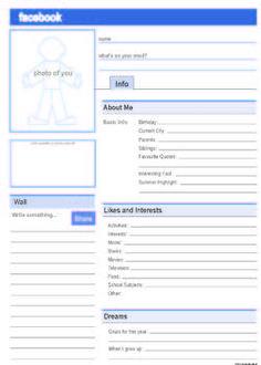 Facebook Profile. Free PDF template.
