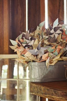 Pinwheels instead of throwing rice or blowing bubbles--- Georgia Barn Wedding by The Reason and Buzzy Craftery « Southern Weddings Magazine Wedding Paper, Diy Wedding, Wedding Events, Rustic Wedding, Dream Wedding, Autumn Wedding, Wedding Favours, Party Wedding, Wedding Bells