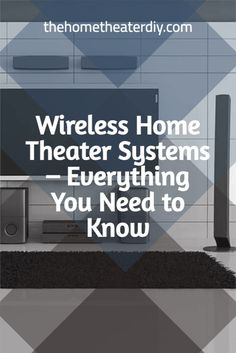 Home theaters require a lot of equipment, and with every new component, there are often several new wires that need to be connected to everything else leading to trip hazards and laborious cable management solutions. But as technology continues to advance, more homeowners are looking to invest in wireless home theater systems, although few know exactly how they work. Wireless Home Theater System, Home Theater Subwoofer, Home Theater Sound System, Home Theater Surround Sound, Home Theatre Sound, Home Theater Setup, Home Theater Design, Audio System, Wireless Surround Sound