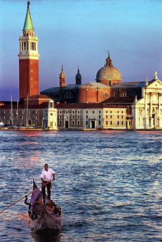 Venice, exactly as you should see it first - rising from the sea . . .