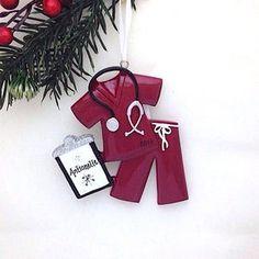 Blue Scrubs Personalized Christmas Ornament / Nurse Christmas   Etsy Family Ornament, Dog Ornaments, Christmas Tree Ornaments, Personalized Christmas Ornaments, Handmade Ornaments, Burlap Baby Showers, Etsy App, Photo Gifts, Nurse Ornament
