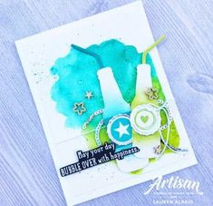 Bubble Over Watercolor Birthday Card