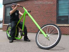 Make a statement and build your own phat chopper bike. Great Leg Workouts, Homemade Go Kart, Recycled Bike Parts, Velo Design, Electric Bike Kits, Bicycle Spokes, Lowrider Bicycle, Chopper Bike, Buy Bike