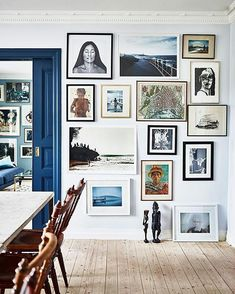 Really love this art wall!  Love how it's hanging top to bottom   Via @krickelin @andreapapiniphotographer @elledecorationse