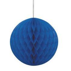 Χάρτινη μπάλα διακοσμητική μπλε - 20 εκ.