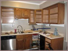 Shining Gel Stain Kitchen Cabinets