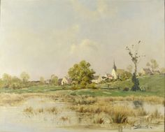 A French Village by EUGENE GALIEN-LALOUE - Cider House Galleries